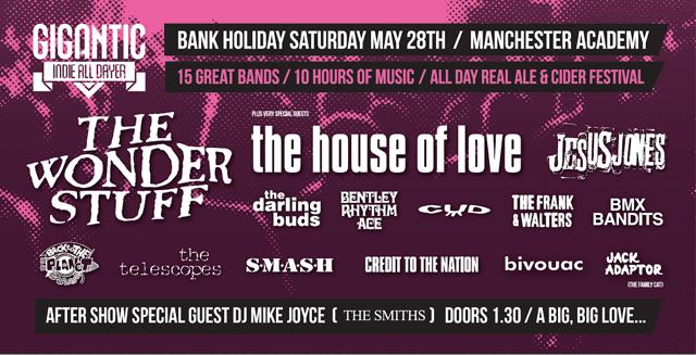 Gigantic Indie All Dayer