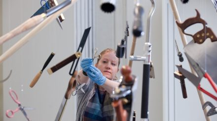 image-8-exhibition-curator-louisa-briggs-with-the-made-in-sheffield-tool-explosion-photo-andy-brown-3