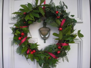 Christmas wreath by Claire Fleetneedle