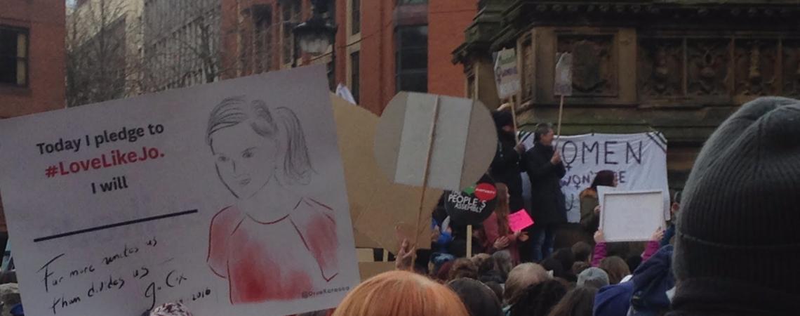 Women's March Banner