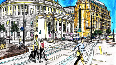 MCR Library, by Don Stewart at Manchester Sketch Book