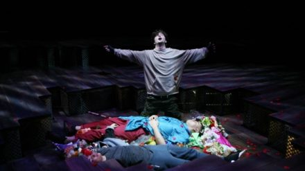 George Caple, Zelina Rebeiro & Elliott Kingsley in Romeo & Juliet, photo by Gary Calton