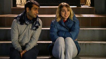 """Kumail Nanjiani as """"Kumail"""" and Zoe Kazan as """"Emily"""" in THE BIG SICK. Photo by Sarah Shatz."""