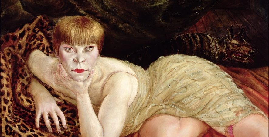 Otto Dix, Reclining Woman on a Leopard Skin 1927 (Liegende auf Leopardenfell) 1927