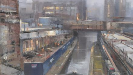 Construction by the Rochdale Canal, Steven Bewsher