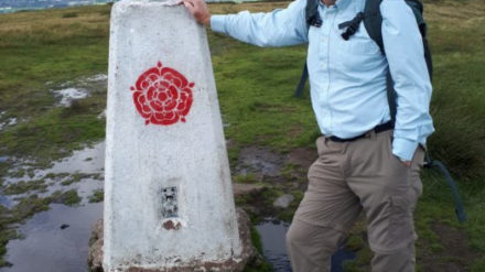 Peter Cropper at Trig Point, image by David Roberts