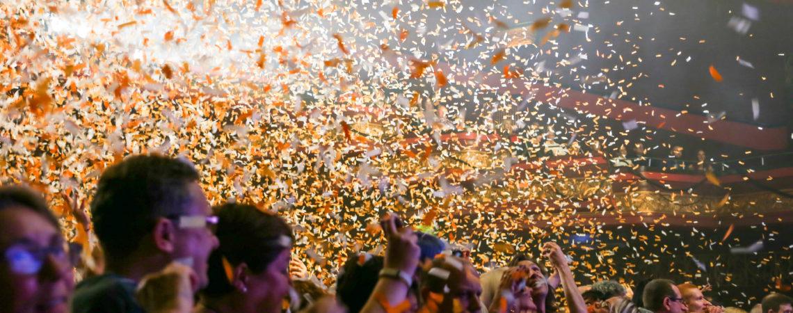 Confetti, Manchesrer Apollo, image credit BBC