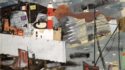 John Piper, Harbour Scene, Newhaven 1936-1937