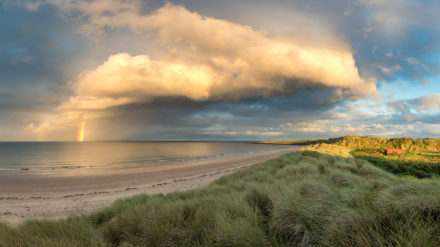 Southern end of Beadnell Bay, image by Phil Pounder