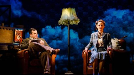 Dean Nolan as Fred and Isabel Pollen as Laura in Brief Encounter, credit Steve Tanner