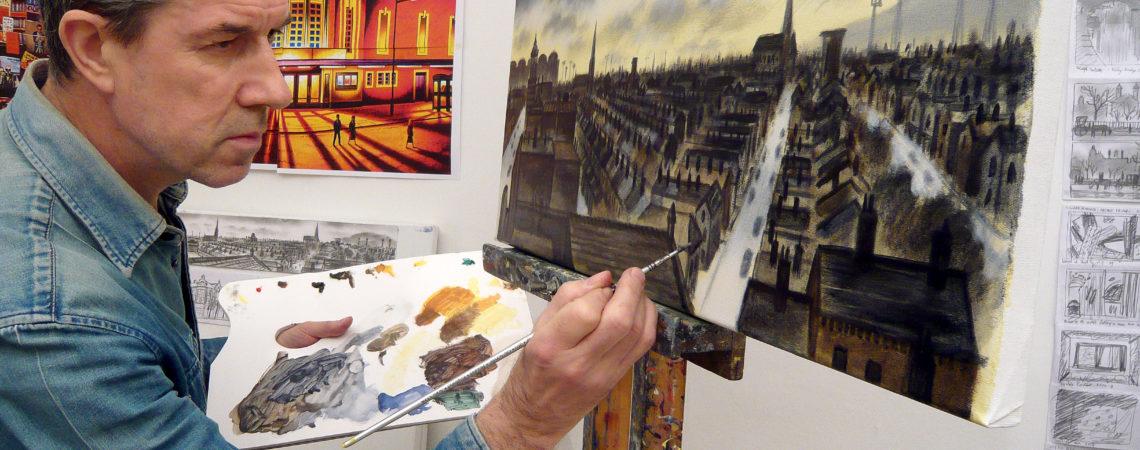 Artist and printmaker John Duffin