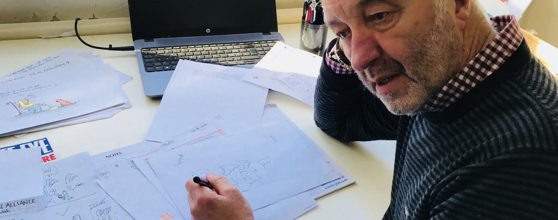 Tony Husband at Work