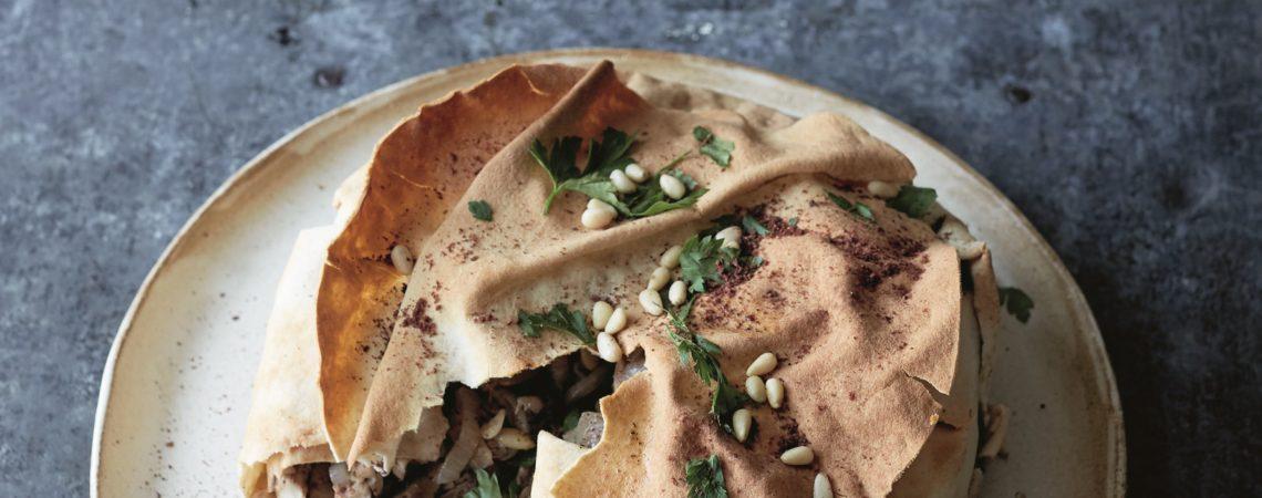 Palestinian Braised Spiced Chicken Pie