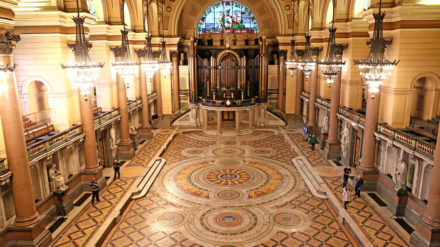 Minton tiles at St George's Hall in Liverpool