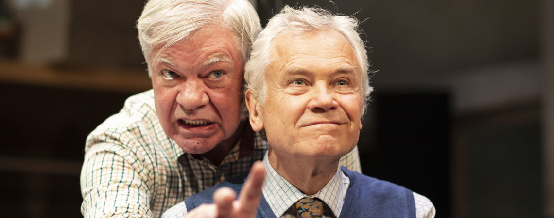 Matthew Kelly and David Yelland in THE HABIT OF ART, c Helen Maybanks