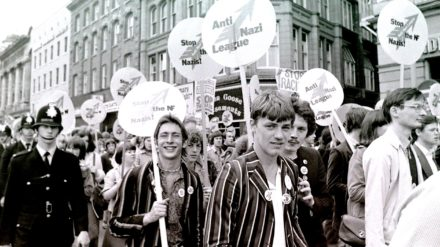 Stylish marchers passing through Manchester city centre (c) John Sturrock