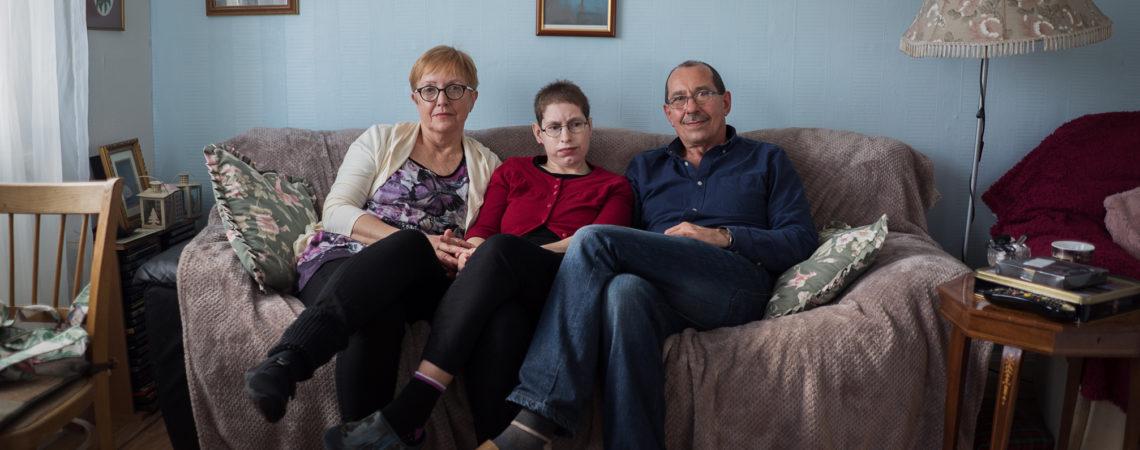 Lubecki Family: Monika, Agata and Wieslaw in their home of 4 years in Edinburgh