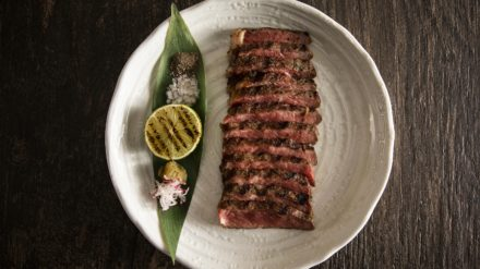 Peter Street Kitchen 28-Day-Aged Rib-Eye Beef with Yuzu Kosho, 20 Smoked Sea Salt and Black Pepper