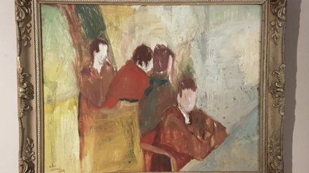 Colin Jellicoe, Interior with figures (1964)