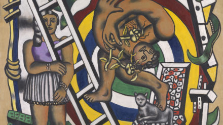 Fernand Léger, 1881-1955 The Acrobat and his Partner 1948 Oil paint on canvas support: 1302 x 1626 mm frame: 1402 x 1727 x 75 mm Tate. Purchased 1980 © ADAGP, Paris and DACS, London 2018