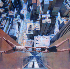 Glenn Ibbitson, Human Bridge, 122x122cm, Acrylic and oilon canvas, L5200