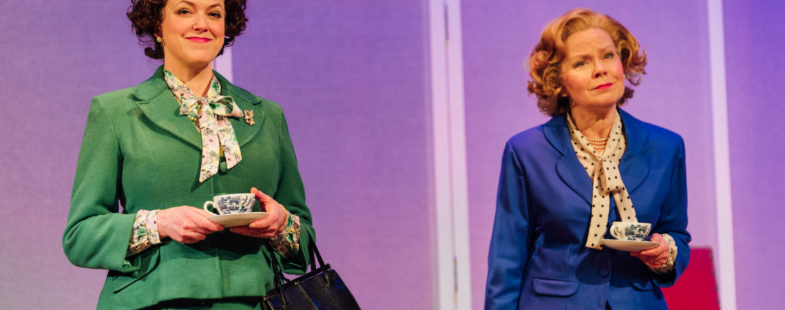 Caroline Harker and Eve Matheson in Handbagged. Photo Helen Murray