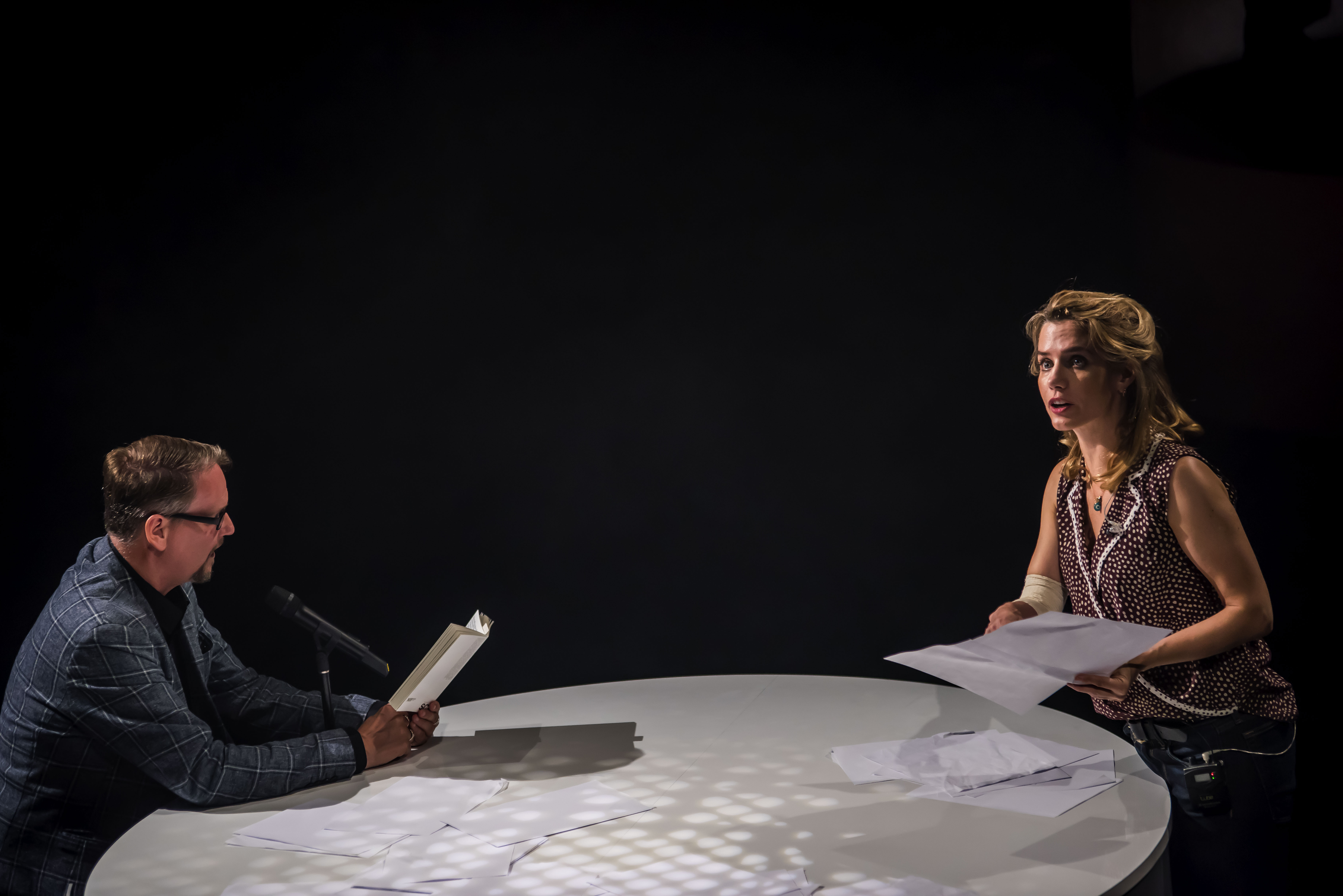 Author Sjón and Lisa Dwan Studio Créole at Manchester International Festival 2019 image credit Chris Payne 51141