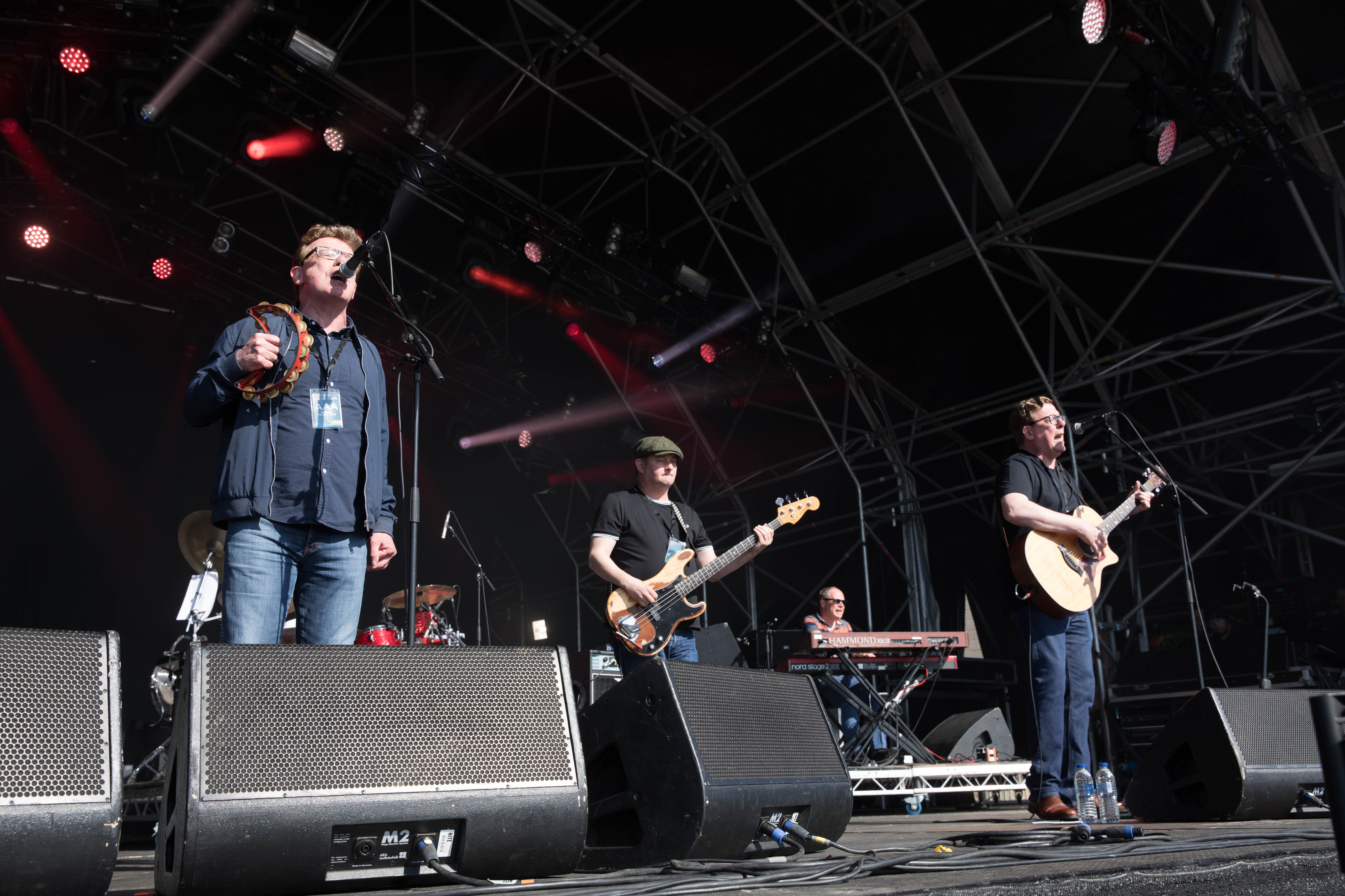 The Proclaimers perform on the final day of the Mouth of the Tyne Festival, Tynemouth.