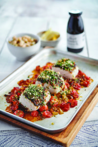 Baked Cod & Tomatoes