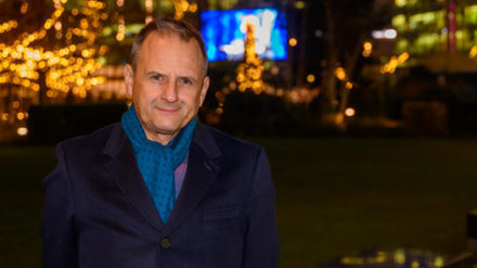 Mark Radcliffe, by Andrew Allcock