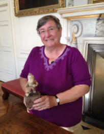 Christine with Lampy - The worlds oldest Gnome