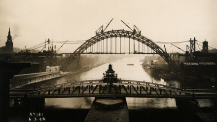 View of the Tyne Bridge from the High Level Bridge, 6 March 1928, Tyne & Wear Archives & Museums