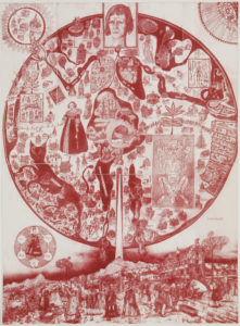 Grayson Perry, Map of Nowhere, 2008, Colour etching from five plates © Grayson Perry, Courtesy the artist, Paragon | Contemporary Editions Ltd and Victoria Miro
