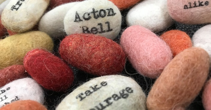 Words in the Sand, courtesy of The Brontë Parsonage.