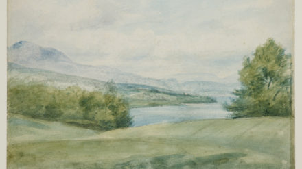 John Constable, Dedham Church and Vale, Suffolk, 1800, pen, ink and watercolour, courtesy the Whitworth, The University of Manchester