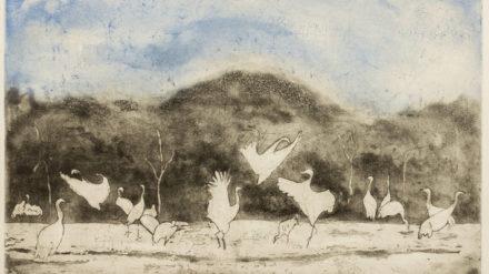 Dancing Cranes - Mary Yazhari-1
