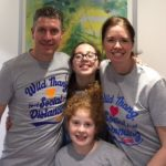 Andrew Dwerryhouse and family wearing Wild Fang T-shirts