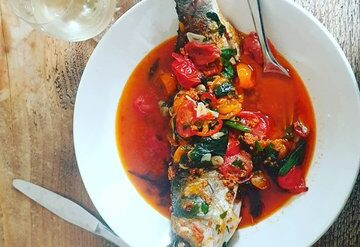 Sea Bass in Crazy Water