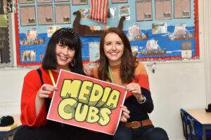 Kirsty Day and Grace Dyke from Media Cubs