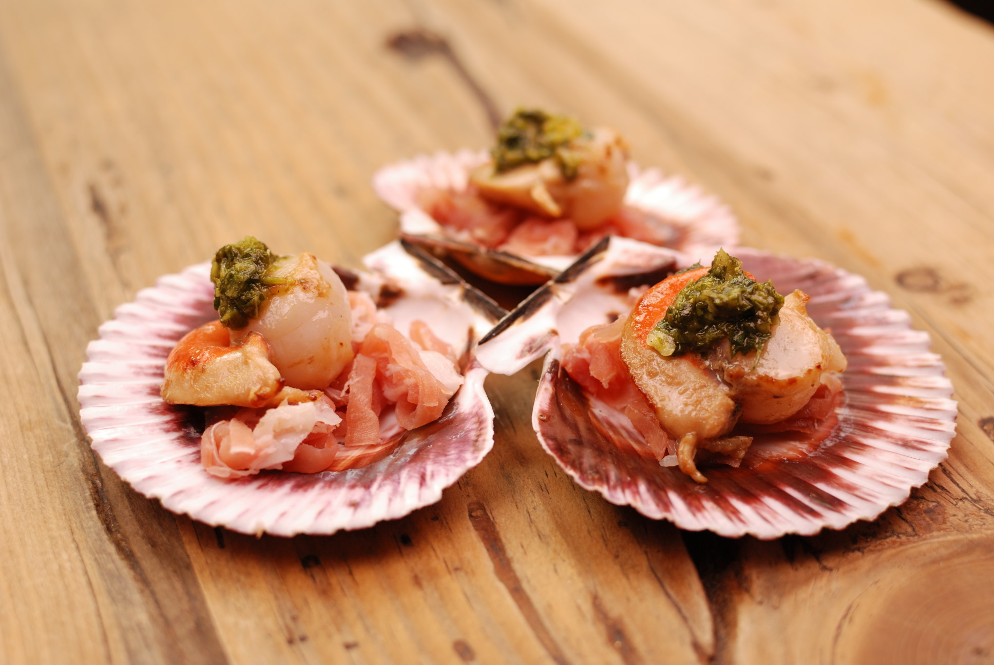 Scallops with Chermoula and Jamon. Courtesy of The Molly House