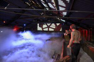 Sound and light show at Lion Salt Works