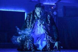 Aron Julius in A Christmas Carol, Playhouse Liverpool 2020 Photo © Robert Day ESC_0334