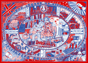 Grayson Perry_Tea Towel_2020_Courtesy the artist and Victoria Miro Copyright © Grayson Perry