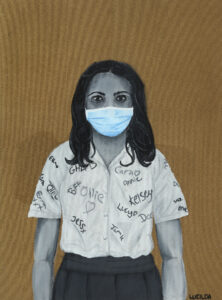 Lucilda Goulden-White_Generation COVID_Acrylic on board__Courtesy the artist