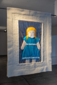 Claire Hignett, Do Be Careful… (2020). British wool, PVC, felt, wool and silk tops, water soluble fabric. Image courtesy Jules Lister