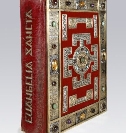 Spine of Lindisfarne Gospels c 700 Cotton MS Nero D IV c British Library Board