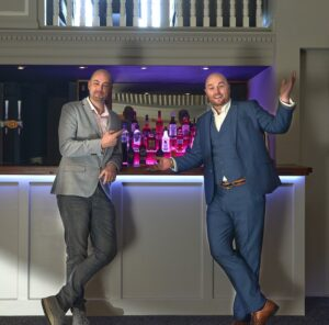 Ed and Ant at the bar. The Bowden Rooms