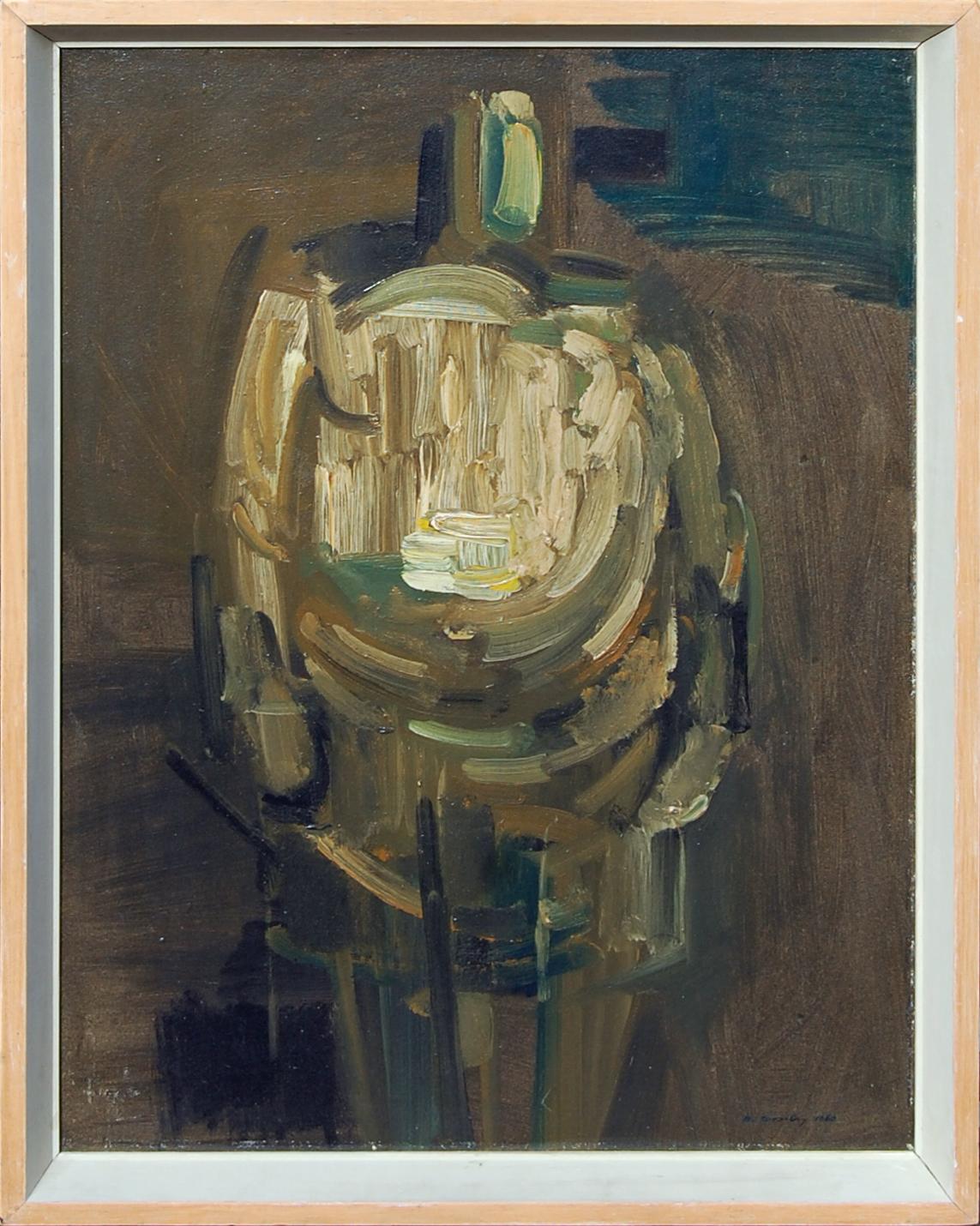 Ochre Figure, Bob Crossley, 1960, Castlegate House Gallery