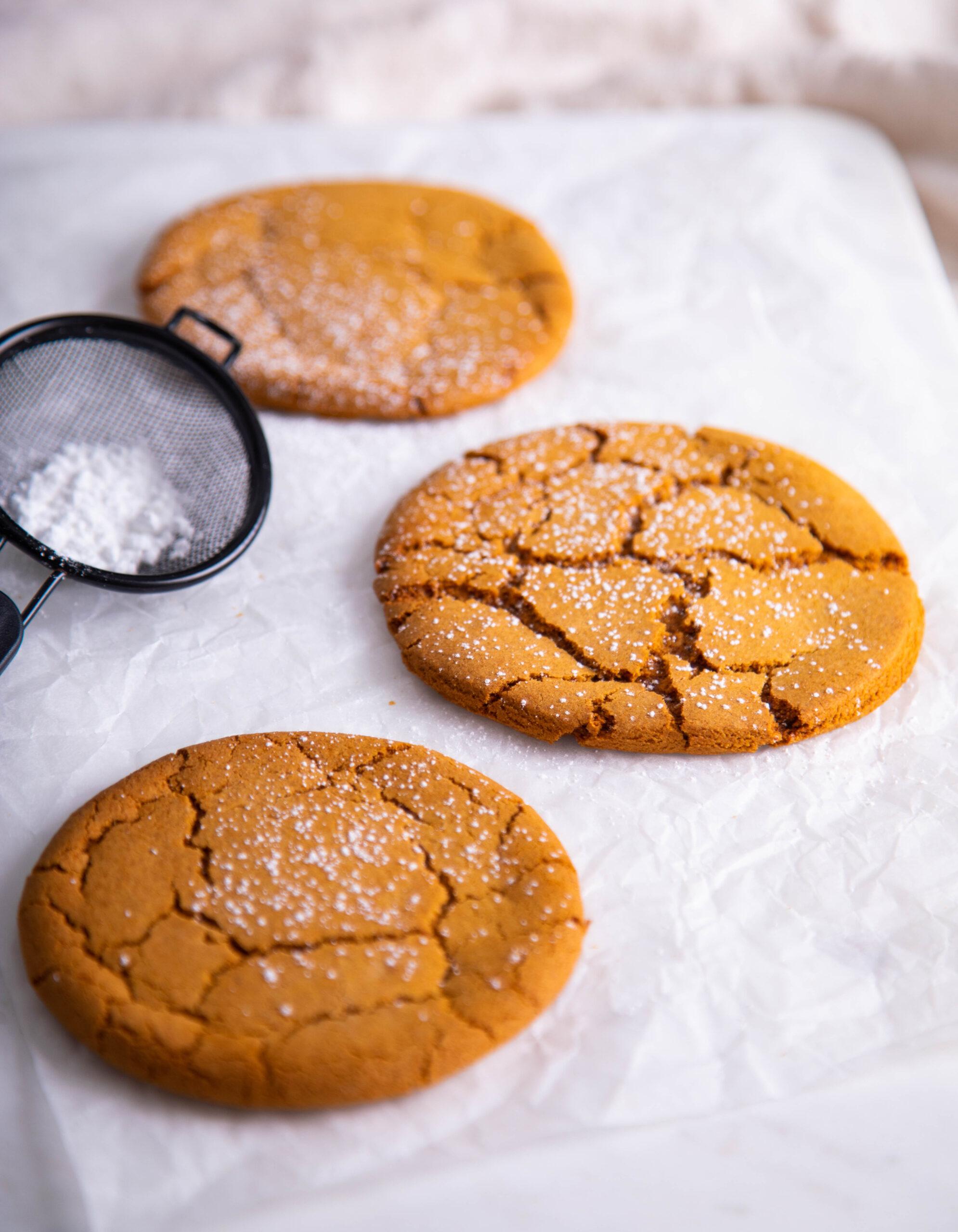 Golden Gingersnap Cookies