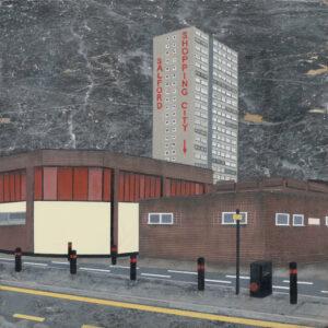 Mandy Payne - Precinct 1, spray paint and oil on marble